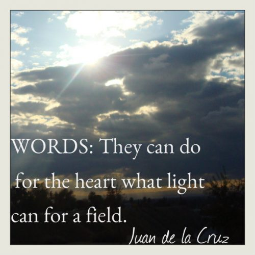 Words: Are Healing. Are Light. Consciously Offered, are Love in Form. Use with Care.