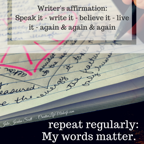 Writer's Affirmation: Your Words Matter: Our Words Matter: The World Is Waiting….