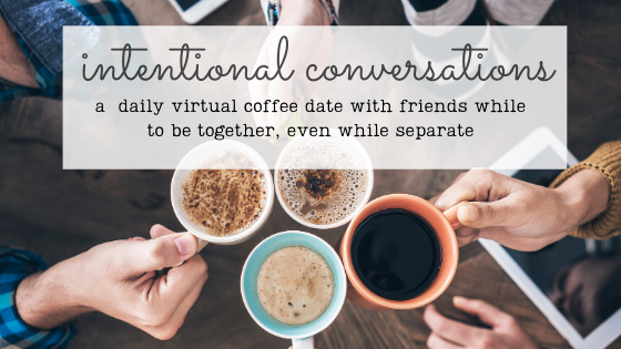 People sharing coffee drinks like we share virtual coffee drinks, tea, water or whatever we care to drink during our intentional conversations via zoom during the pandemic. Easing loneliness and amplifying connection worldwide.