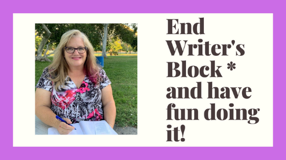 Julie JordanScott is ready to teach about ending writer's block and even having fun while doing it. There is even a video to watch with the same image on it!