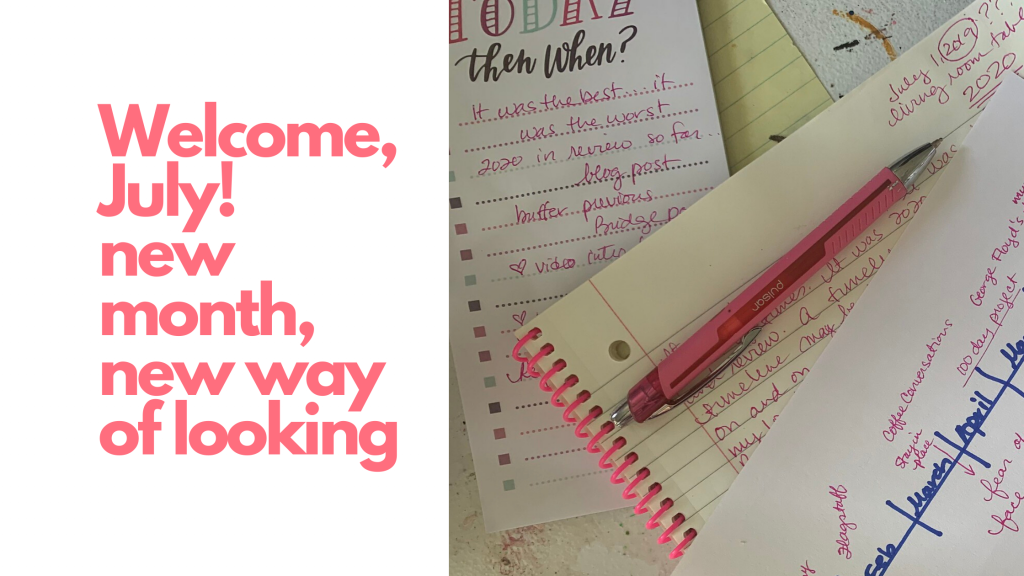 A journal, a to-do list, and a year-in-review timeline for the person reading the blog post to continue to do the same. All writing is in pink ink.