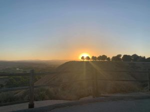 Sunrise at the Panorama Bluffs in Bakersfield, California.